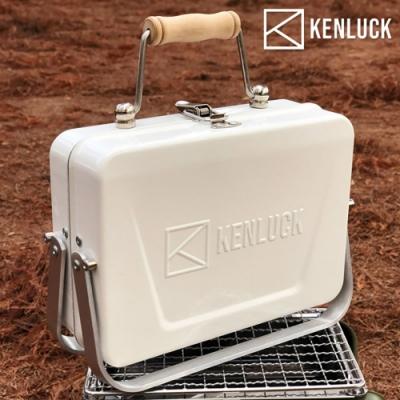 KENLUCK 迷你攜帶型烤肉架Mini Grill 雅典白