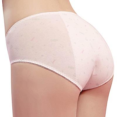 思薇爾 棒棒糖輕甜風系列M-XXL中腰夜用生理褲(奶油色)