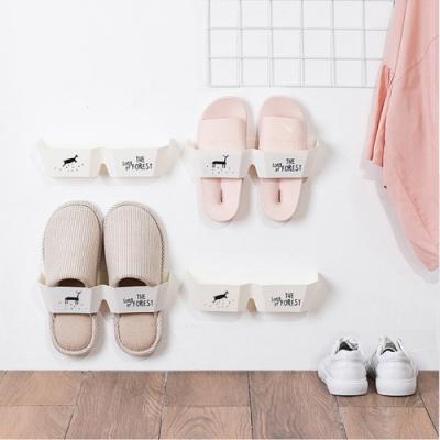 E.dot  簡約日式立體印花收納鞋架(兩款選)