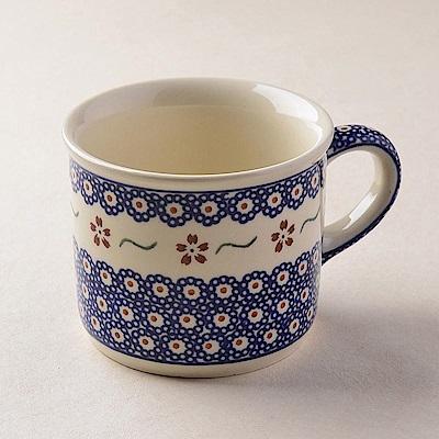 【波蘭陶 Zaklady】 紅點藍花系列 陶瓷馬克杯 400ml 波蘭手工製