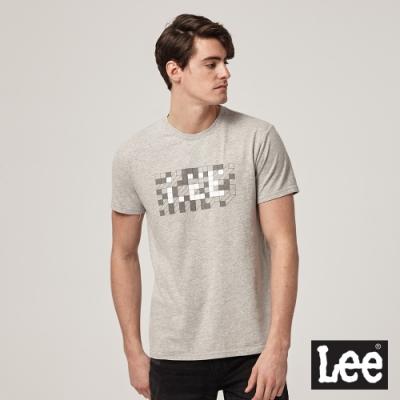 Lee短袖T恤 馬賽克磚塊logo 麻花灰 男款