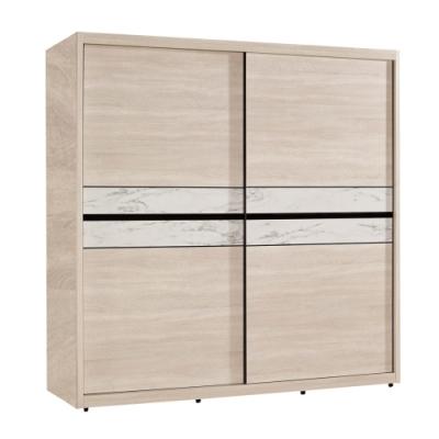 文創集 菲莉4.9尺多功能推門衣櫃/收納櫃(吊衣桿+穿衣鏡面)-146x60x202cm免組