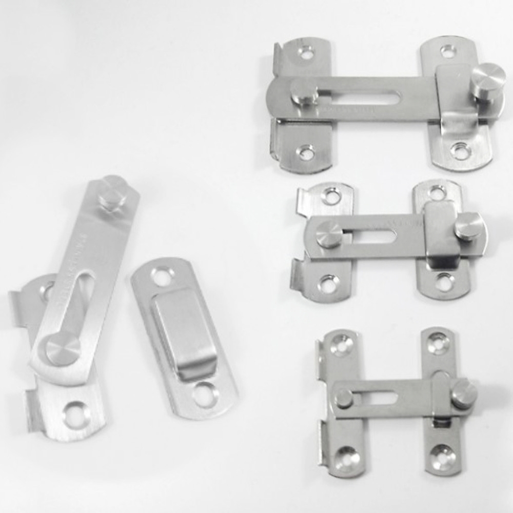 HE013 不鏽鋼打掛鎖 門栓/門閂/掛扣/門扣/門止/門鎖  閂長70 mm 中號