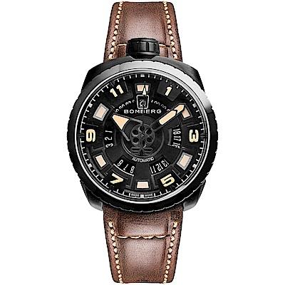 BOMBERG 炸彈錶 BOLT-68 經典機械錶-咖啡/45mm