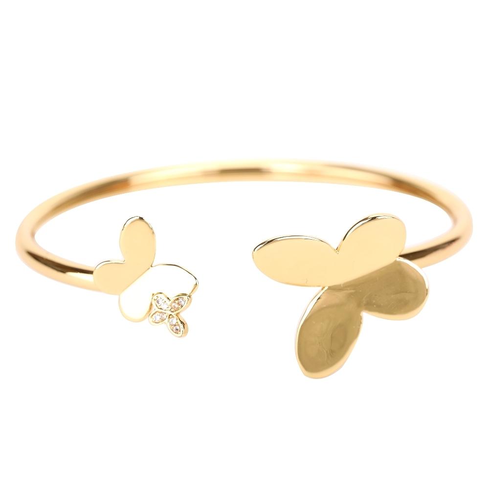 Kate Spade Flex Cuff 不對稱蝴蝶鑲鑽金色手環