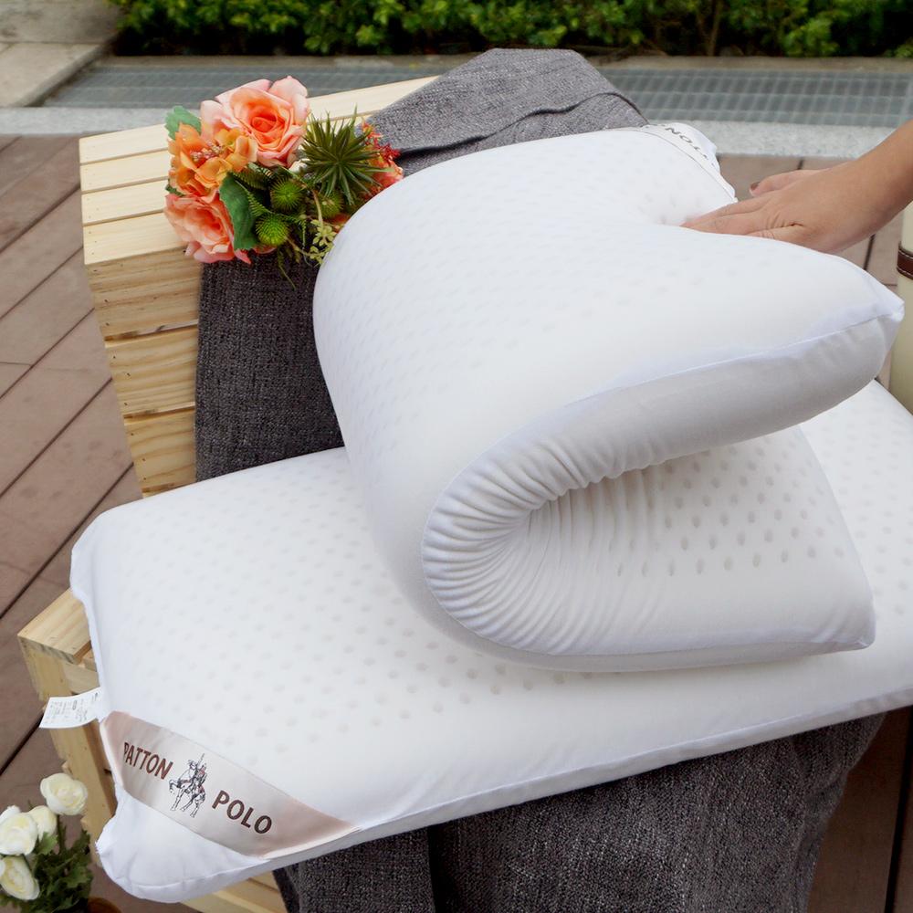 戀家小舖 / 枕頭 巴頓保羅舒適乳膠枕-一入組 100%天然乳膠 透氣棉表布 台灣製