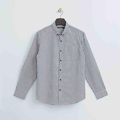 Hang Ten - 男裝 - 拼接條紋襯衫 - 藍白條