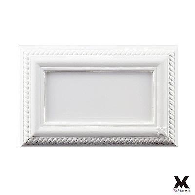 VaMarssa四方匯財冷漿陶瓷封板插座開關蓋卡準式-白