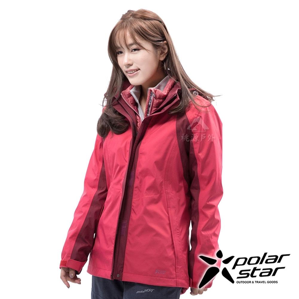 PolarStar 女 二件式防風羽絨外套『桃紅』 P18238