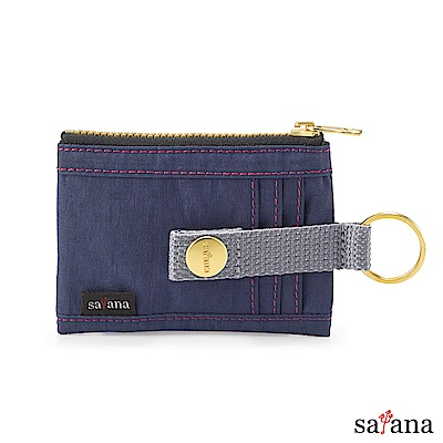 satana - 繽紛卡片夾/零錢包 - 礦青藍