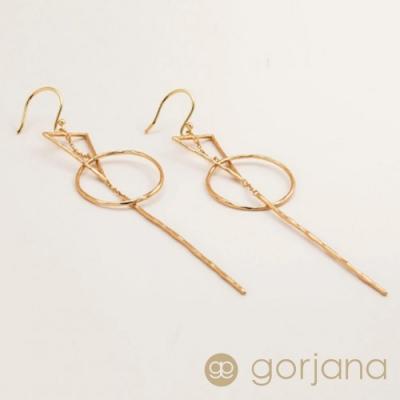 GORJANA 個性時尚幾何垂墜式耳環