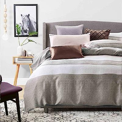 Saint Rose 摩卡時代 雙人100%純天絲兩用被套床包四件組