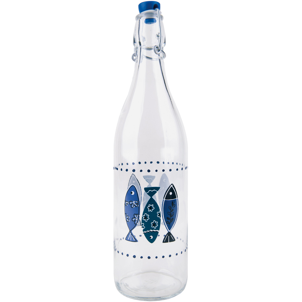 《EXCELSA》扣式密封玻璃水瓶(魚1L)