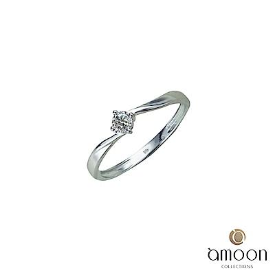 amoon 浪漫艾菲爾系列 堅貞 9K金鑽石戒指