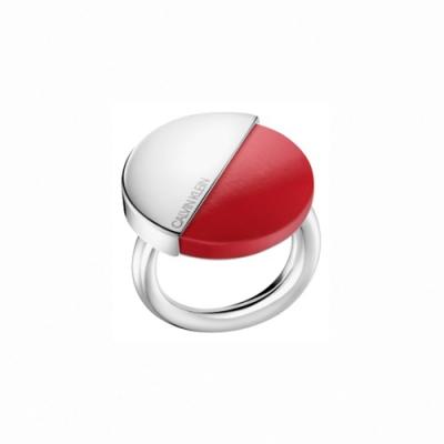 CALVIN KLEIN Spicy 系列魅力時尚亮麗紅戒指-7