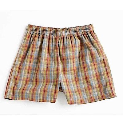 三槍牌 舒適男童平織布平口褲~4件組 隨機取色