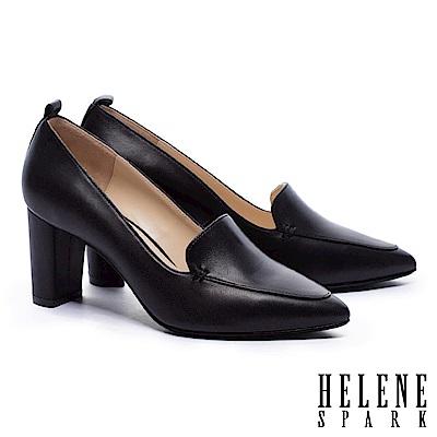 高跟鞋 HELENE SPARK 簡約素雅羊皮尖頭高跟鞋-黑