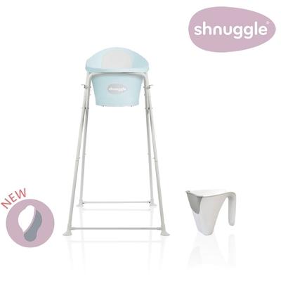 【英國Shnuggle】月亮澡盆三件組-月亮澡盆(香草綠)+專用架U2+小小水瓢