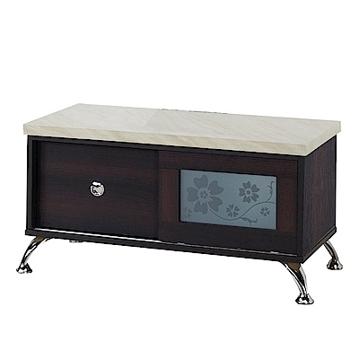 綠活居 比德2.7尺木紋推門電視櫃/視聽櫃(二色可選)-82x43x44cm-免組