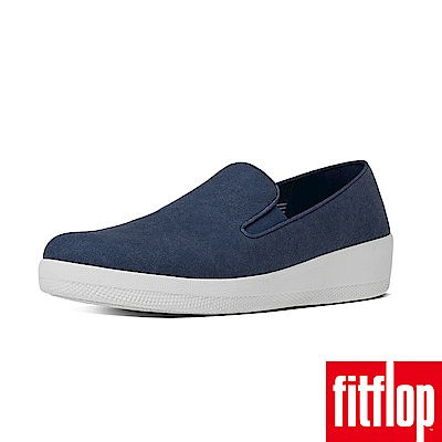 FitFlop SUPERSKATE CANVAS LOAFER-午夜藍