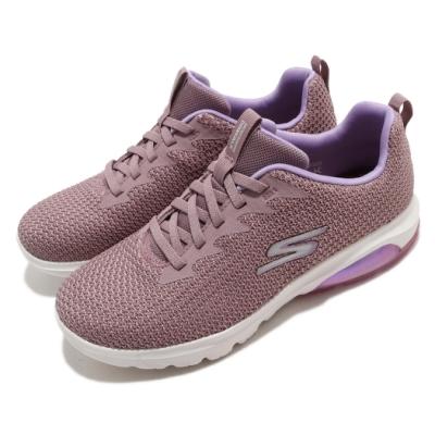 Skechers 休閒鞋 Go Walk Air Shadow 女鞋 支撐 緩衝 避震 透氣瑜珈鞋墊 回彈 粉 紫 124337MVE