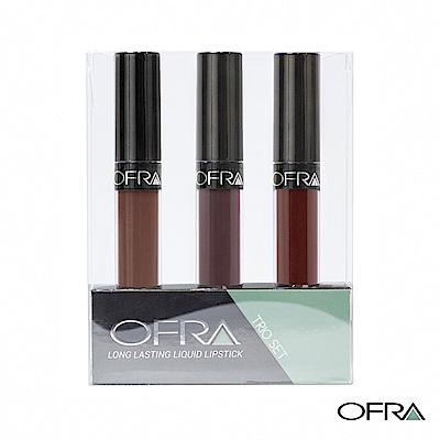 OFRA 魅惑長效液態唇膏超值組合-香醇義大利系列 #706 6gx3