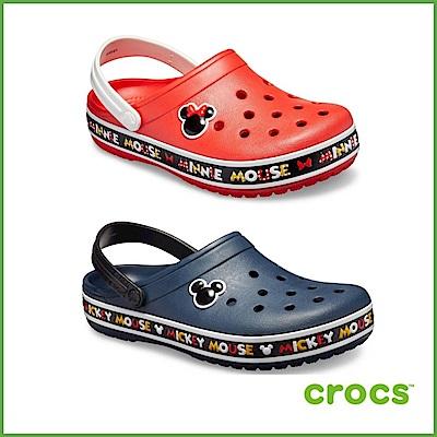 【雙11限定】 Crocs卡駱馳 米奇米妮(下單就送鞋扣)