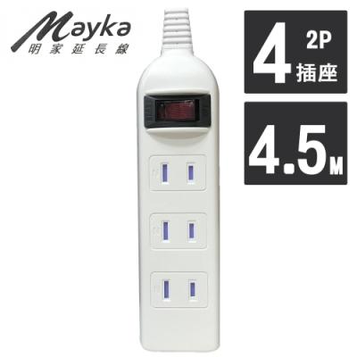 明家 Mayka SP-422-15 1開4插附防塵蓋延長線 15A 4.5M 15呎