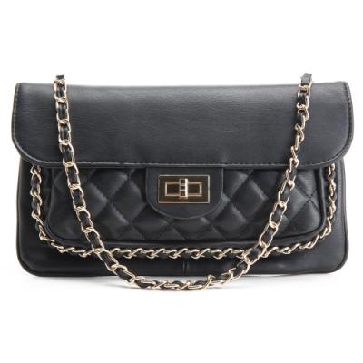 法國盒子 品味時尚編織造型四用鍊帶包(黑色)