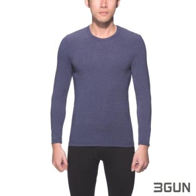3GUN 三槍牌 時尚經典型男長袖圓領勁熱衣~2件組