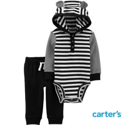 【Carter s】熊熊黑白條紋2件組套裝(6M-24M)(台灣總代理)