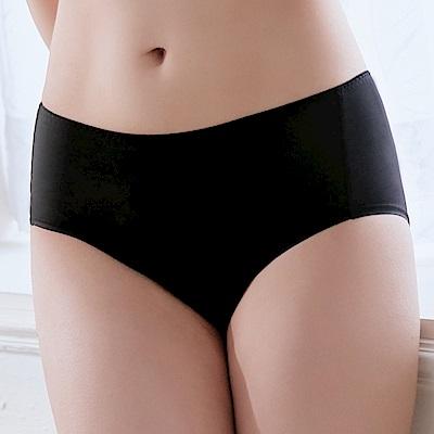 推EASY SHOP-漫步素体美人 中腰平口褲(極簡黑)
