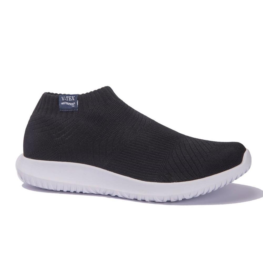 V-TEX  時尚針織耐水鞋/超輕量襪鞋 地表最強防水透濕襪鞋-靜謐黑(女)