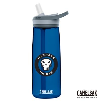 【美國 CamelBak】750ml eddy+ 多水吸管水瓶 骷髏藍