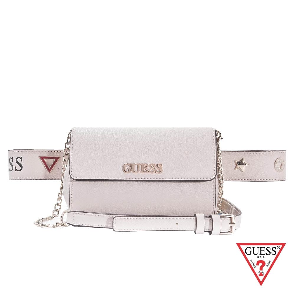 GUESS-女包-簡約時尚可肩背腰包-米白 原價1990