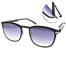 VYCOZ太陽眼鏡 薄鋼 簡約百搭款 /黑-漸層藍 #MARK BLK-B