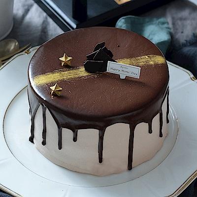 艾波索 極光醇黑巧克力蛋糕6吋(630g)(贈派對包)