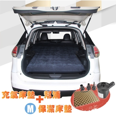 Camping Ace 快充式植絨充氣床墊_車用睡墊+保潔床包M+2用幫浦