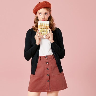 SEMIR森馬-韓版顯瘦款針織小外套-女