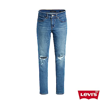 Levis 女款 Revel 高腰緊身提臀牛仔褲 超彈力塑形布料 後褲管拉鍊設計