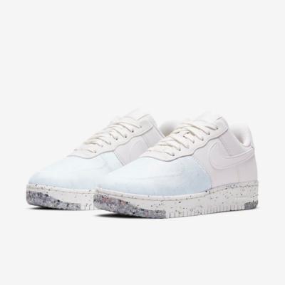 Nike 休閒鞋 Air Force 1 Crater 女鞋 基本款 舒適 半透明鞋面 簡約 穿搭 白 灰 CT1986100