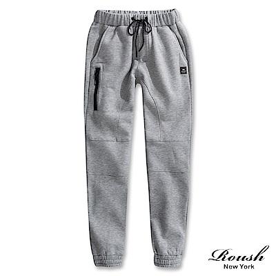 Roush 側邊拉鍊高磅數刷毛棉褲(3色)