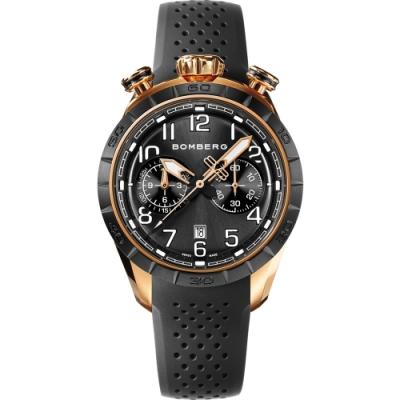 BOMBERG 炸彈錶 BB-68 系列飛行計時碼錶-黑面/44mm
