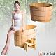 【雅典木桶】緬甸 特級檜木 完美工藝 長80CM 檜木 泡澡桶 product thumbnail 1