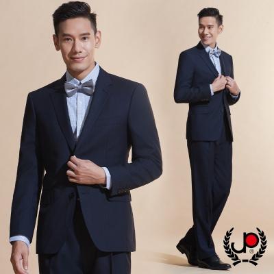 極品西服 品味展現仿毛直條紋西裝外套_丈青 (AW608-3G)