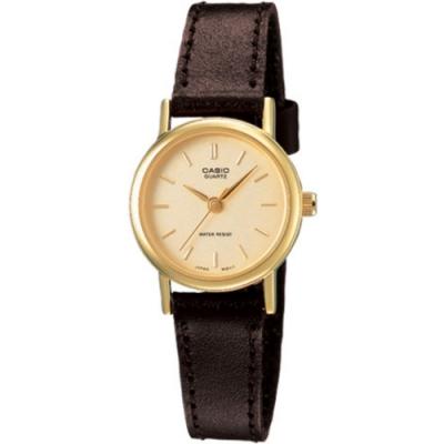 CASIO 精緻小巧婉約氣質女神皮帶腕錶(LTP-1095Q-9A)黃面x丁字/25mm