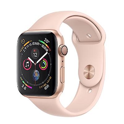 Apple Watch S4 44mm GPS版金色鋁金屬錶殼搭配粉沙色運動型錶帶