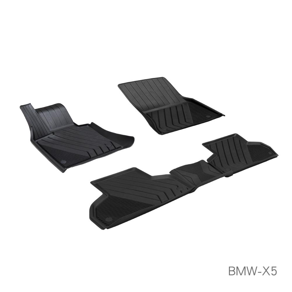 MIBO米寶 魔形水晶立體腳踏墊 BMW-X5 三代 2014~2018年5片式 (黑色)