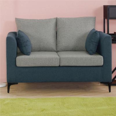 【文創集】維德 現代亞麻布二人座沙發椅(二色可選)-130x73x70cm免組