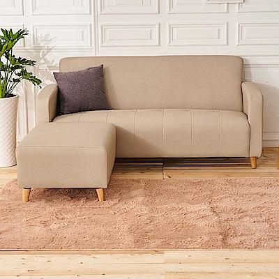 時尚屋 西恩納L型透氣貓抓皮沙發 (共11色)